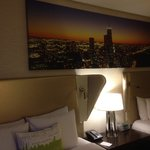 Beds with Chicago skyline photo