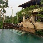 Swimming in tropical rain! Refreshing!