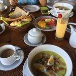 Balinese chicken porridge breakfast