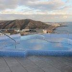 The jacuzzi overlooking Puerto Rico bay