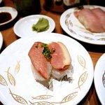 Smoked duck sushi
