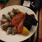 Shrimp & snail appetizer
