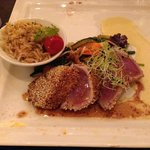 Seared tuna with sesame crust