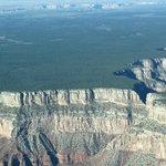 Flat land meets canyon edge