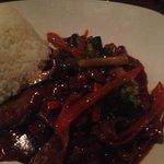 rindfleisch mongolisch - ertränkt in hoi-sin