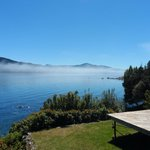 Una mañana con las nubes sobre el Lago, disipándose