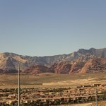 The Red Rock Canyon visible from a distance