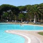 La preciosa zona de la piscina!
