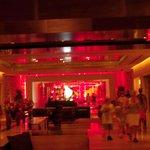 impressive red lobby