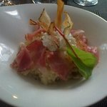 risotto au fromage de Salers et jambon speck