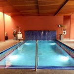 The indoor spa pool