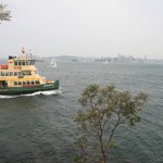 Cremorne Point lighthouse with Ferry chugging by