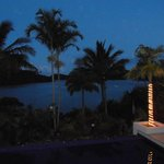 View from balcany at night