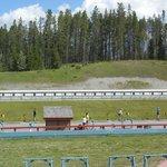 le nordic centre - ici le pas de tir pour le biathlon