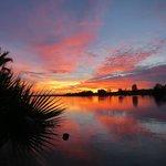 Sunset, picture taken from Roadrunner Floating Bar