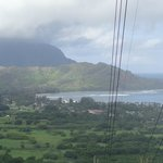 Top of a hike overview of Hanalei Bay
