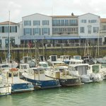 Hotel seen from other side of marina