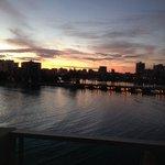 Sunrise from room balcony.