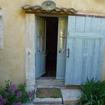 """Entrance to our """"hobbit"""" cottage"""