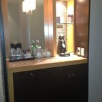 Fridge in Room and Coffee Maker