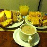 Café da manhã maravilhoso!!!!