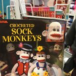 Crocheted Sock Monkeys pattern book at Spinrite Factory Outlet