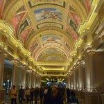 Impressive corridor from the Main Lobby to the casino