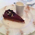 dark chocolate and caramel torte