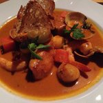 Perfect fish dish - cod & clam in lobster bisque