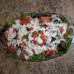 Tossed Salad with Salmon