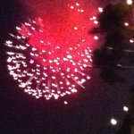 fireworks from parking lot