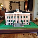 Gingerbread replica of the Old Mansion! Part of the Christmas decor-donated!