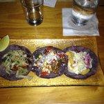 Taco variety plate.