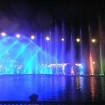 Abendliche Wassershow