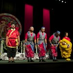 Some of the Lion Dance cast