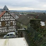 Terrasse mit Biergarten und schöner Aussicht