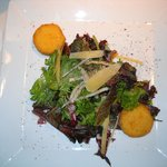Salad with Risoto Croutons