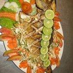 Freshly bakes fish