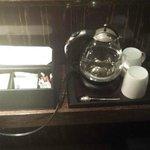 The tea service in-room.