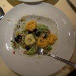 Yummy vegetarian tortellini