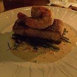 sea bass with king prawn