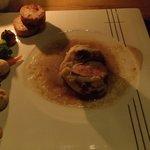 Kurobuta Pork with mushroom gravy and ciabatta biscuits