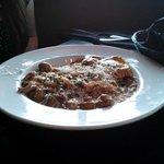 Creamy short rib ravioli with mushroom sauce. Apologize for the poor picture quality.