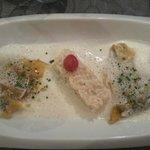 grande assiette de foie gras en risotto