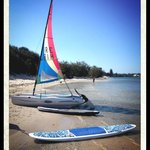 Catamaran and Paddleboard returned and ready to go out again