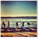 A beautiful morning stand-up paddleboard session