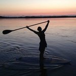 Paddleboarding is a great way to start your day before the wind picks up