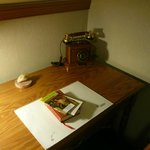 writing table in one of the rooms