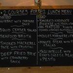 Autumn lunch menu