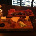 Our cheese and meat board!
